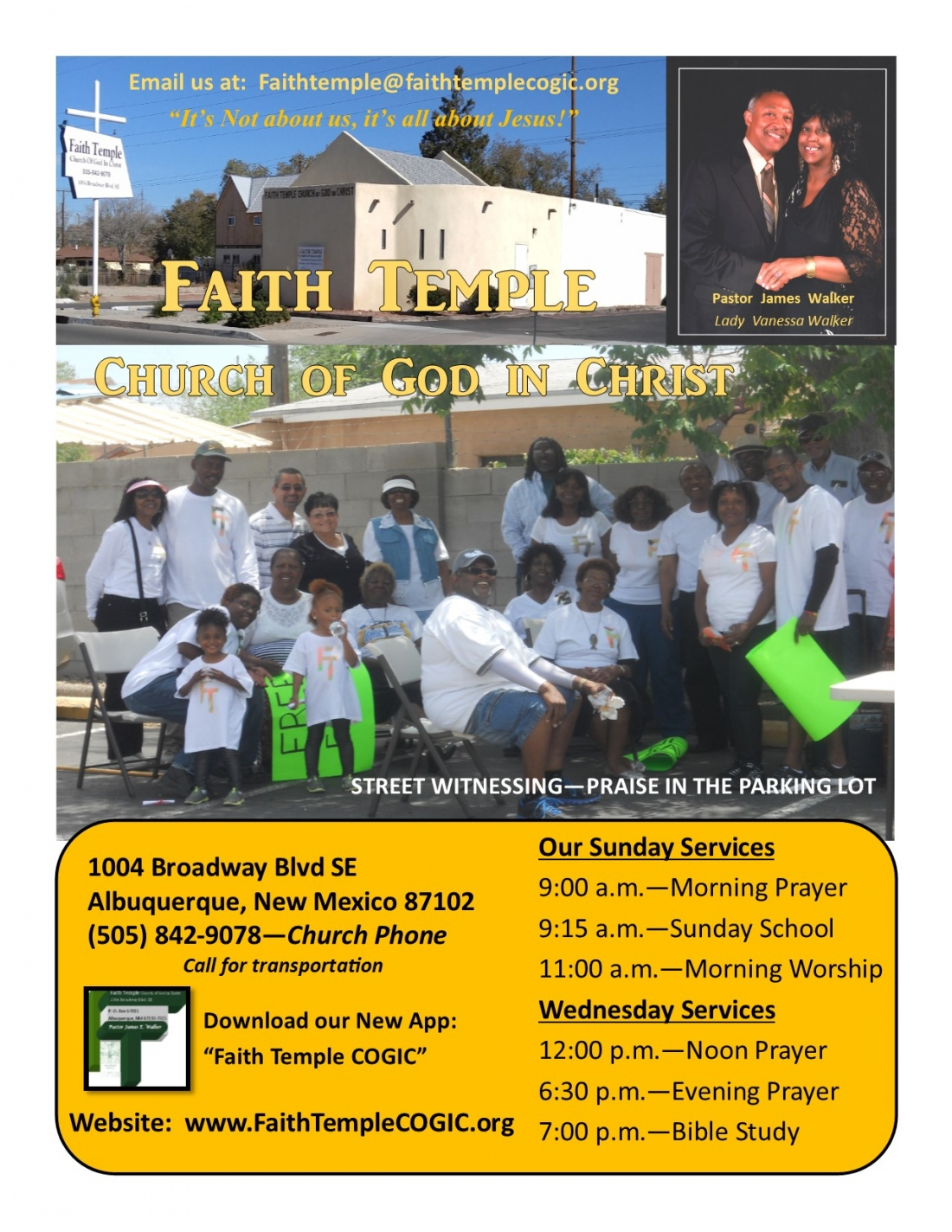 Faith Temple COGIC - Abq  NM, 87102 - Home